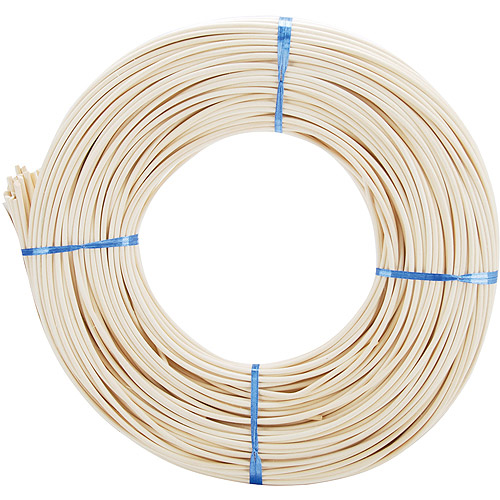 Commonwealth Basket Round Reed #5 3-1/4mm 1-Pound Coil, Approximately 360-Feet Multi-Colored