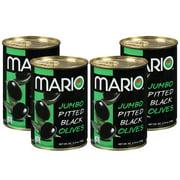 (4 Pack) Mario Jumbo Pitted Ripe Olives 5.75oz