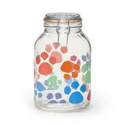Kamenstein 3000 Milliliter Pet Decal Clamp Jar, Dog and Cat Food Storage