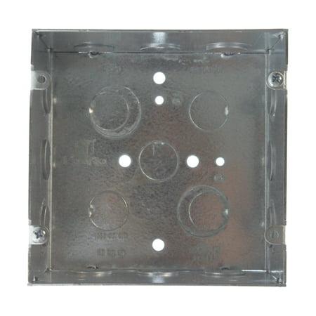 "Randl R-55015 5"" Square Low-Voltage Metal Device Back Box, 5"" x 2.875"" Deep"
