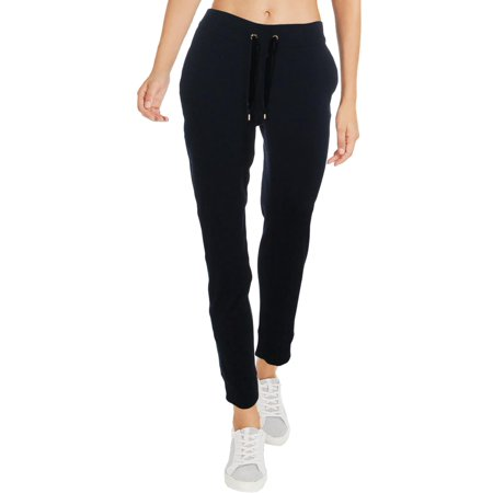 Lauren Ralph Lauren Womens Velvet Trim Draw Strings Sweatpants