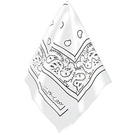 Multi-Purpose Bandana Western Cowboy Costume Party Headwear, White, Fabric, 20