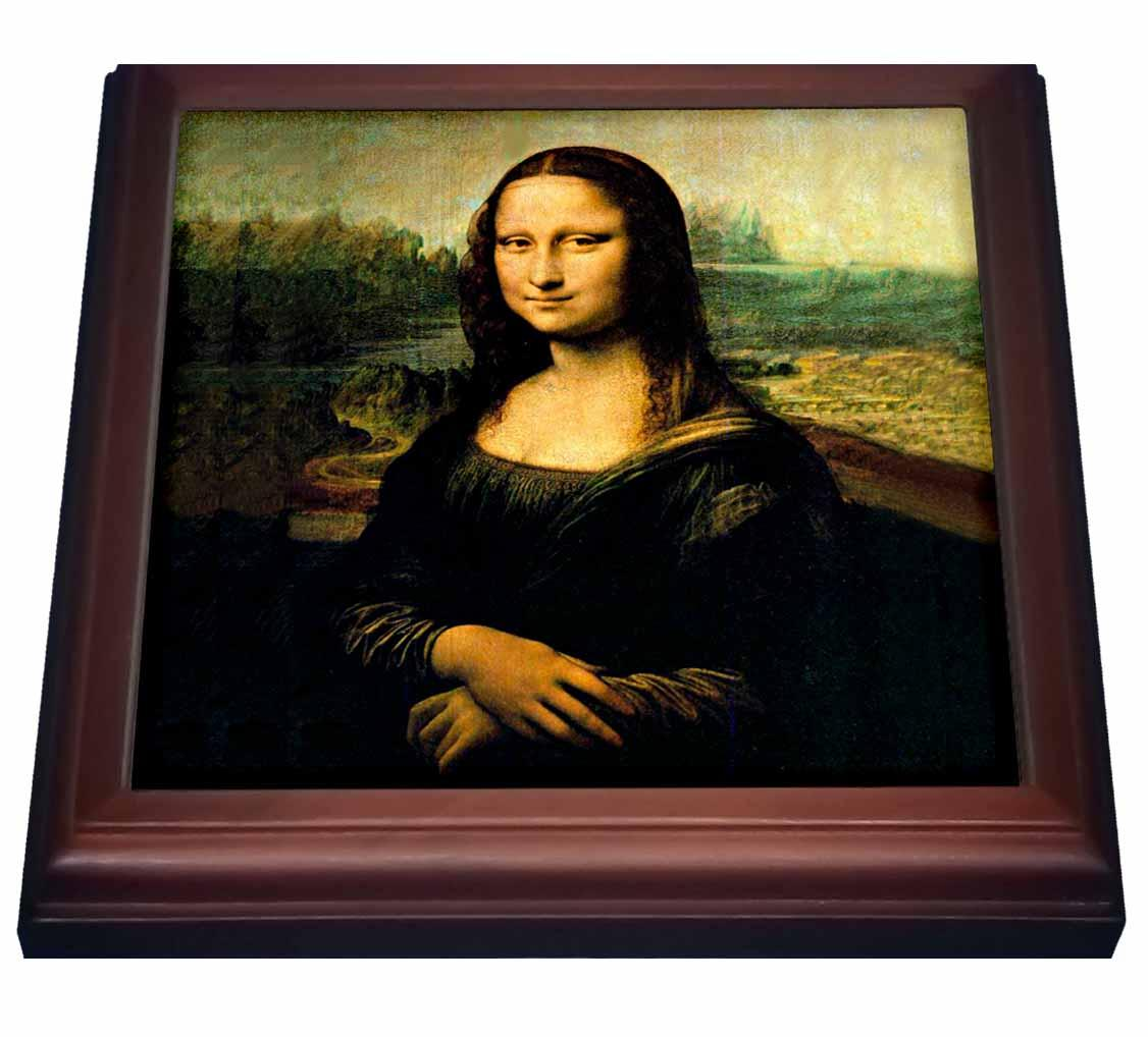 3dRose Monalisa, Trivet with Ceramic Tile, 8 by 8-inch