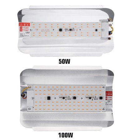 LED Grow Light, Full Spectrum 100W Flower Flood Light, Plant Growing Lamp for Hydroponics Indoor Plants , 220V Waterproof IP65 5730 SMD - image 2 of 7