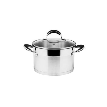 WAH TAT TRADING CORP Prime Cook Stainless Steel 3-quart Stock Pot with Glass Lid