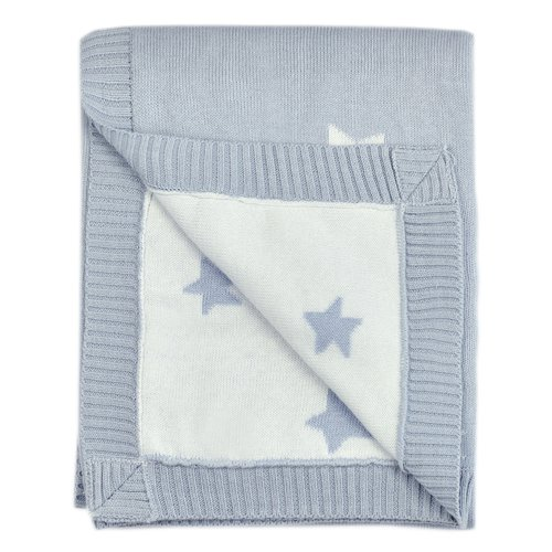 Harriet Bee Dillman Reversible Knitted Star Baby Blanket