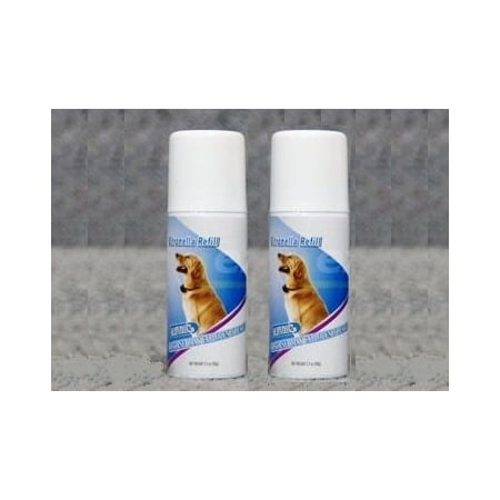 2 PACK Citronella Spray Can REFILL for NO BARK Collar, 6.2 ounces (Approximately 600 sprays)-Safe, Gentle and