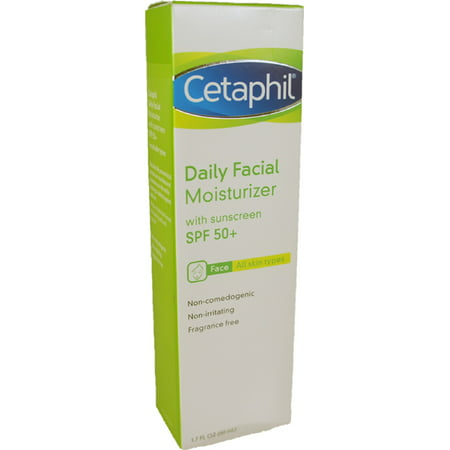 Cetaphil Daily Facial Moisturizer for All Skin Types, with Sunscreen SPF 50 1.7