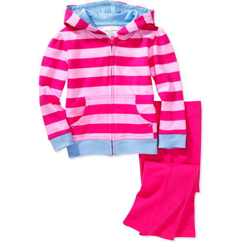 Faded Glory - Baby Girls' Stripe Hoody and Knit Pants