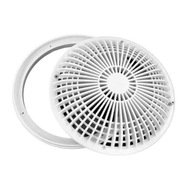 Aqua Star 10MF101 10 in. Round MoFlow Suction Outlet Cover, White - image 1 de 1