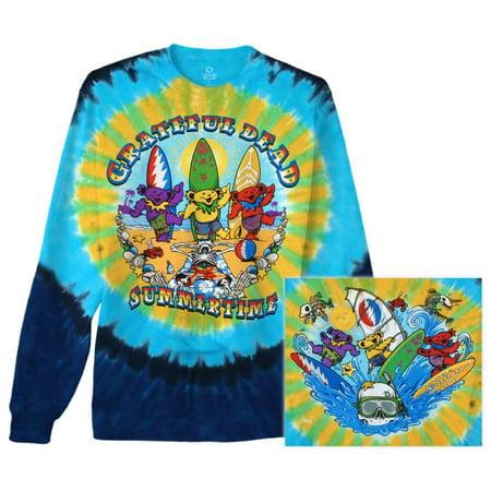 Long Sleeve: Grateful Dead - Beach Bear Bingo Apparel Long Sleeves - Tie Dye (Dye Clothes)
