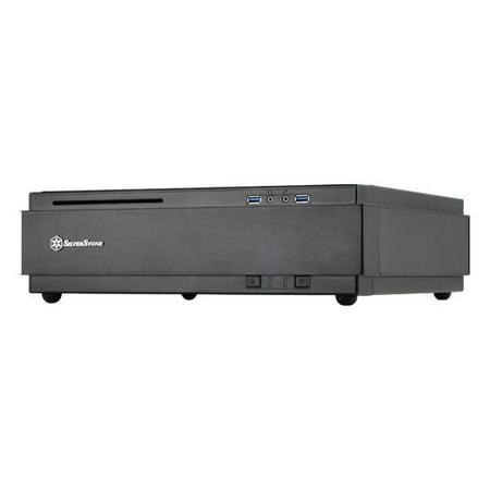 Silverstone SST-ML07B (Black) Slim Mini-ITX HTPC Gaming