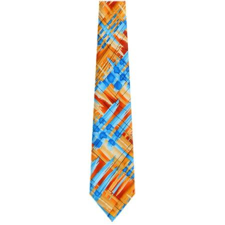 Jerry Garcia Mens Extra Long Fashion Designer Brand Silk Necktie Ties Gold Orange Blue - Jerry Garcia Halloween Ties