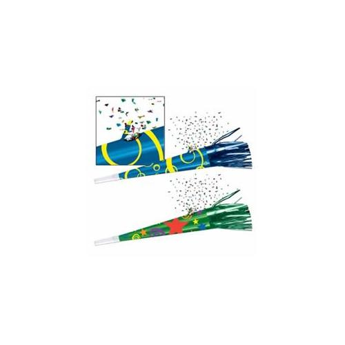 Beistle - 60136-MC - Party Confetti Horns- Pack of 12