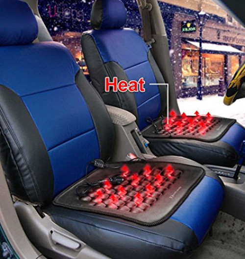 Zento Deals Car Heated Seat Cushion Hot Cover Auto 12V Heater Warmer Pad by Zento Deals