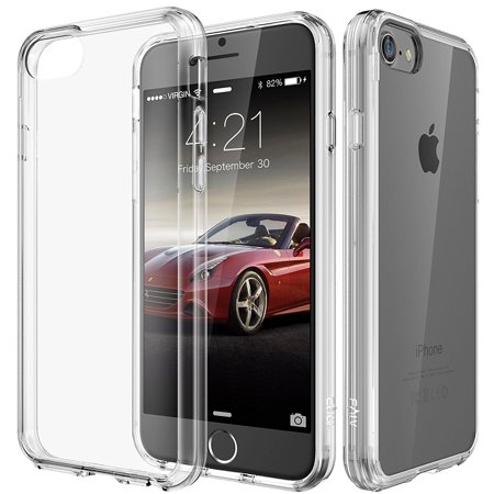 - iPhone 8 and iPhone 7 Case, E LV Anti-Scratch [Shock Absorbent] Clear Slim Case Cover for Apple iPhone 7 and Apple iPhone 8 - [CLEAR]