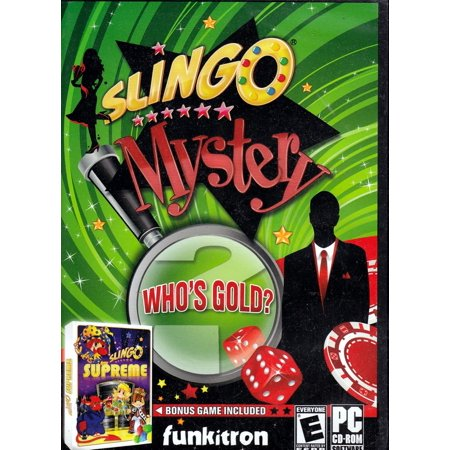 Slingo Mystery: Who's Gold? PC Game PLUS Slingo Supreme Bonus Game Included