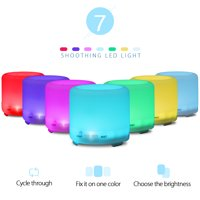 Zimtown 120ML 7 LED Essential Oil Diffuser Humidifier Air Aromatherapy Ultrasonic Aroma
