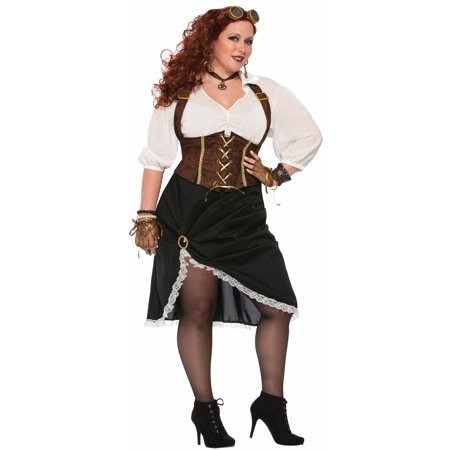 Steampunk Lady - Women's Plus Size Costume - Naked Steampunk Women