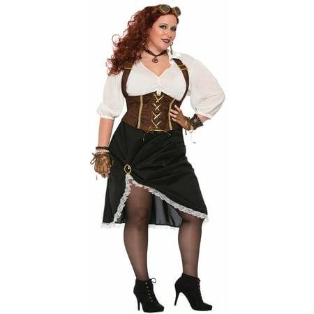 Steampunk Lady - Women's Plus Size Costume - Girls Steampunk Costume