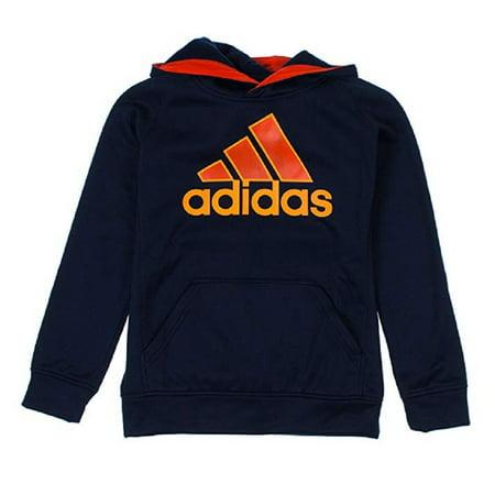 Adidas Performance Youth Boys Adidas Logo Hoodie, Navy, (Adidas Performance Nitrocharge 3-0 Firm Ground Soccer Cleat)
