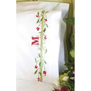 """Dimensions Holly Border Pillowcase Pair Stamped Cross Stitch, 20"""" x 30"""""""