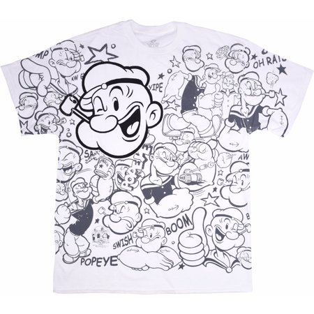 Popeye All Over Print Mens Graphic Tee