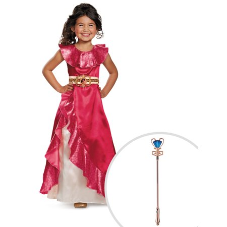 Disney's Elena of Avalor Classic Adventure Dress Costume for Toddler and Disney's Elena of Avalor Scepter