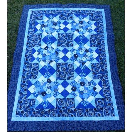 Quilt Kit~Blue Brilliance Lap Quilt~53'' x 71'' Pattern & -