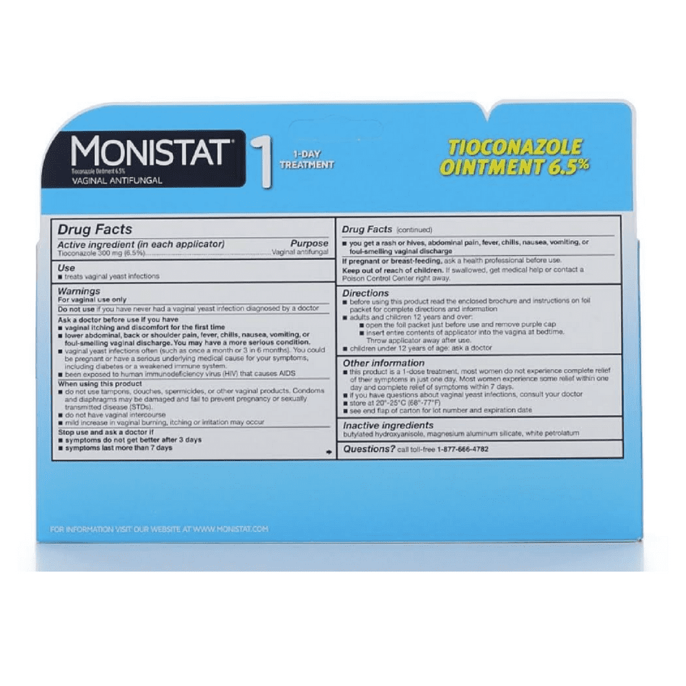 3 Pack Monistat 1 Day Vaginal Antifungal Prefilled Applicator 1