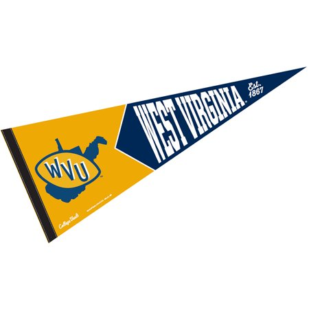 WVU Mountaineers College Vault and Throwback Pennant