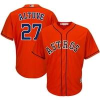 Jose Altuve Houston Astros Majestic Cool Base Player Jersey - Orange