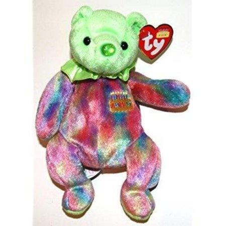 Ty Beanie Baby August Peridot Birthstone Teddy Happy Birthday Bear, Ty Beanie Baby August Happy Birthday Bear By Ty