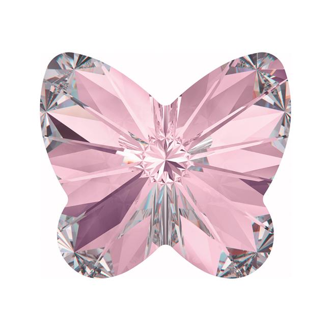 Swarovski Crystal, #4748 Rivoli Butterfly Rhinestones 5mm, 6 Pieces, Light Amethyst F