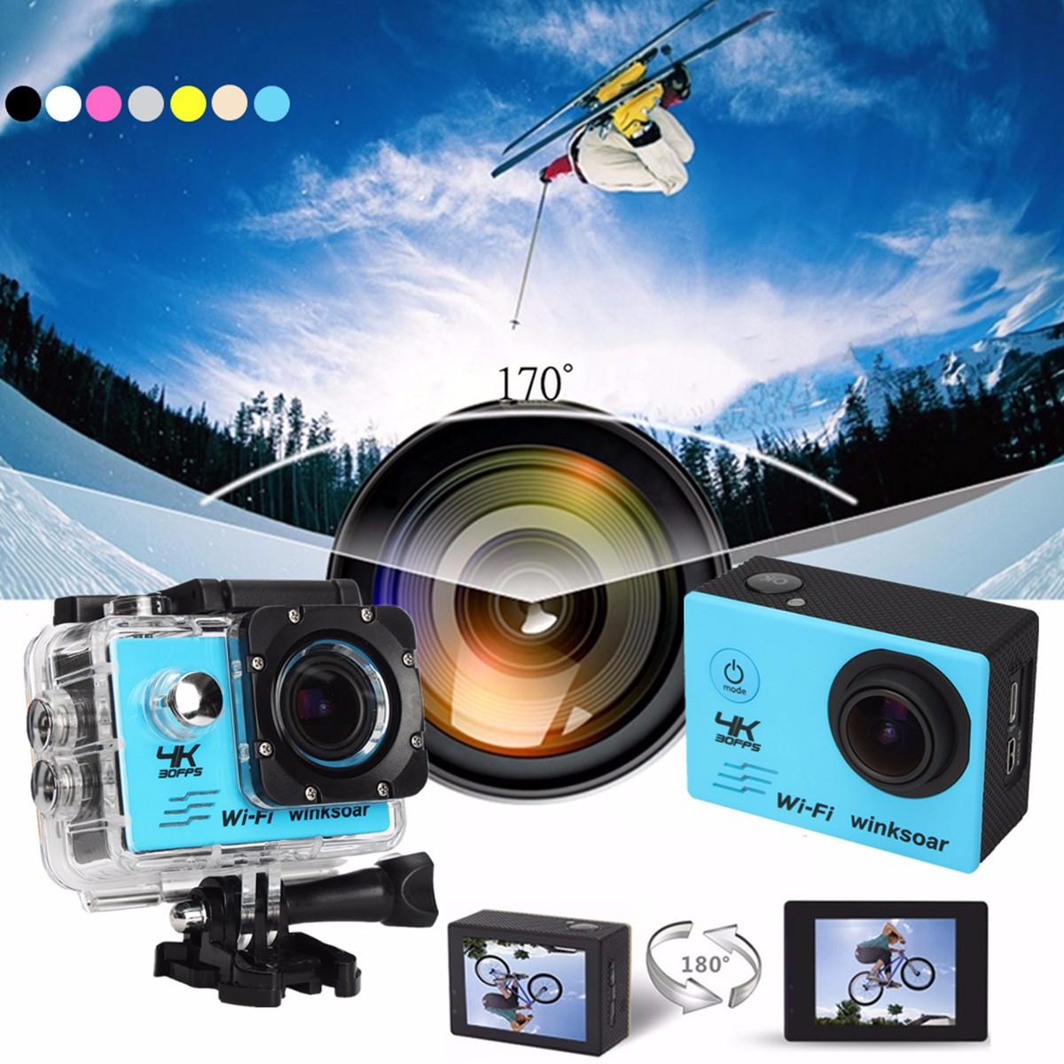 Winksoar SJ9000 Sports Action Camera WiFi HD 4K 1080P 16MP 120° Angle 2-inch Screen Mini DV Recorder Waterproof DV Camcorder Birthday New Year Christmas Gifts
