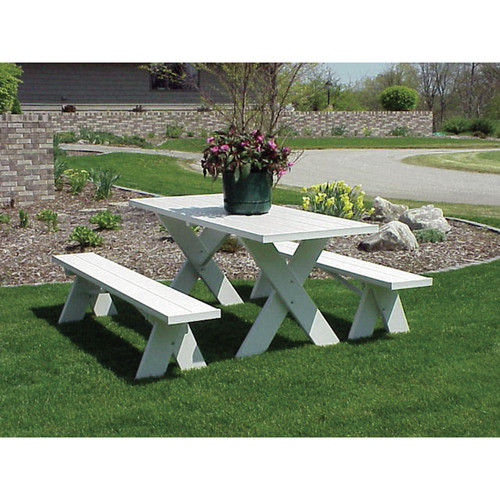 Dura-Trel Picnic Table with Benches by Dura-Trel