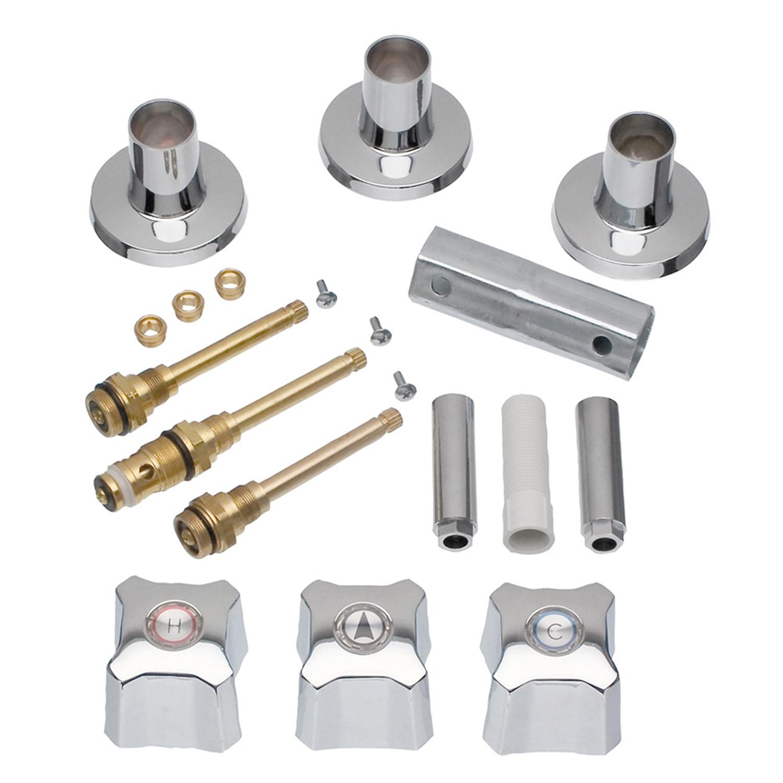 Danco 9D00039672 Chrome Tub/Shower 3-Handle Remodeling Kit For Kohler Trend