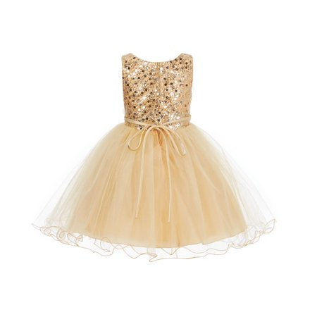 Ekidsbridal Glitter Sequin Tulle Flower girl Dress Toddler Bridal Summer Easter Pageant Wedding Special Occasions Bridesmaid First Communion Reception Graduation Birthday Party Princess Gown B-011](Glitter Dresses For Girls)