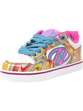 Heelys Motion Plus White / Pink Metallic Swirl Ankle-High Skateboarding Shoe - 6M
