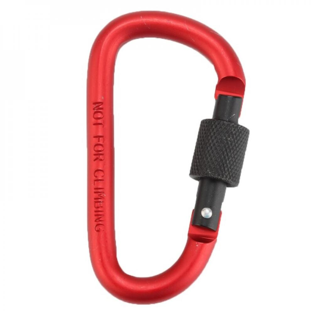 Details about  /Alloy Outdoor Hook Spring Clips D Carabiner D-Ring Key Chain Camping Keyring