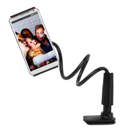 2018 Cell Phone Stand Holder, FeelPower Tablet Clip Holder,Long Arm Gooseneck Flexible Lazy Bracket for ipad/ iPhone X/8/7/6/6s Plus Samsung S8/S7 Mount for Desktop Bedroom, Office, Bathroom, Kitchen. - image 3 of 12