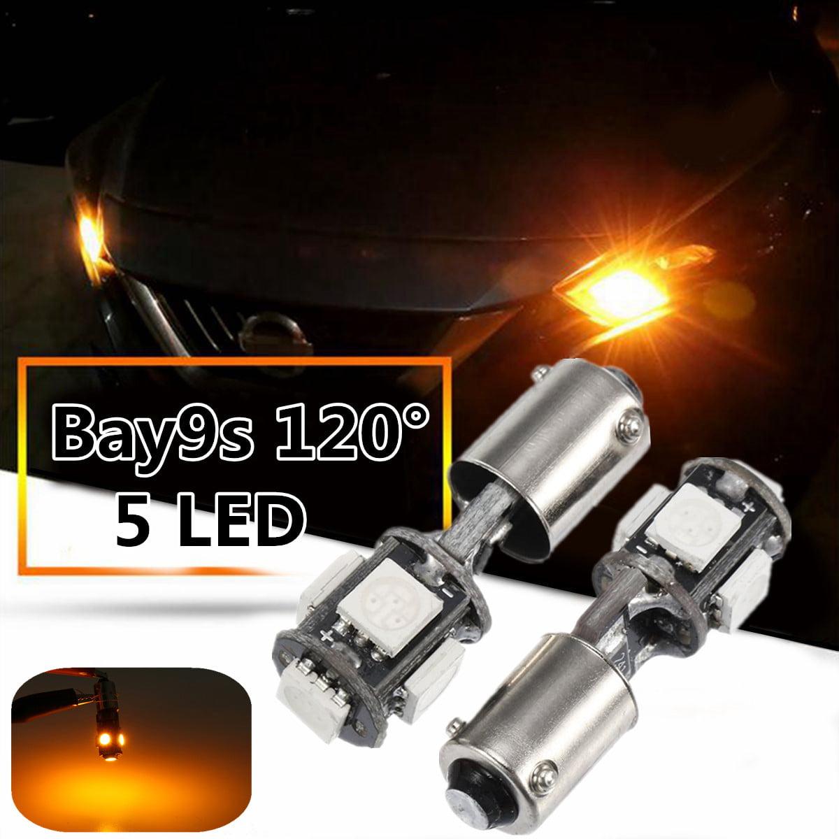 2x White 435 H21W BAY9s Bulb LED Side Indicator Reverse Daytime Light DRL Canbus