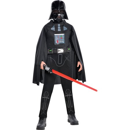 Costumes USA Star Wars Darth Vader Costume Classic for Boys, Includes a Jumpsuit, a Mask, a Cape, and - Darth Vader Mask And Cape