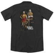 2 Broke Girls Max & Caroline (Back Print) Mens Work Shirt