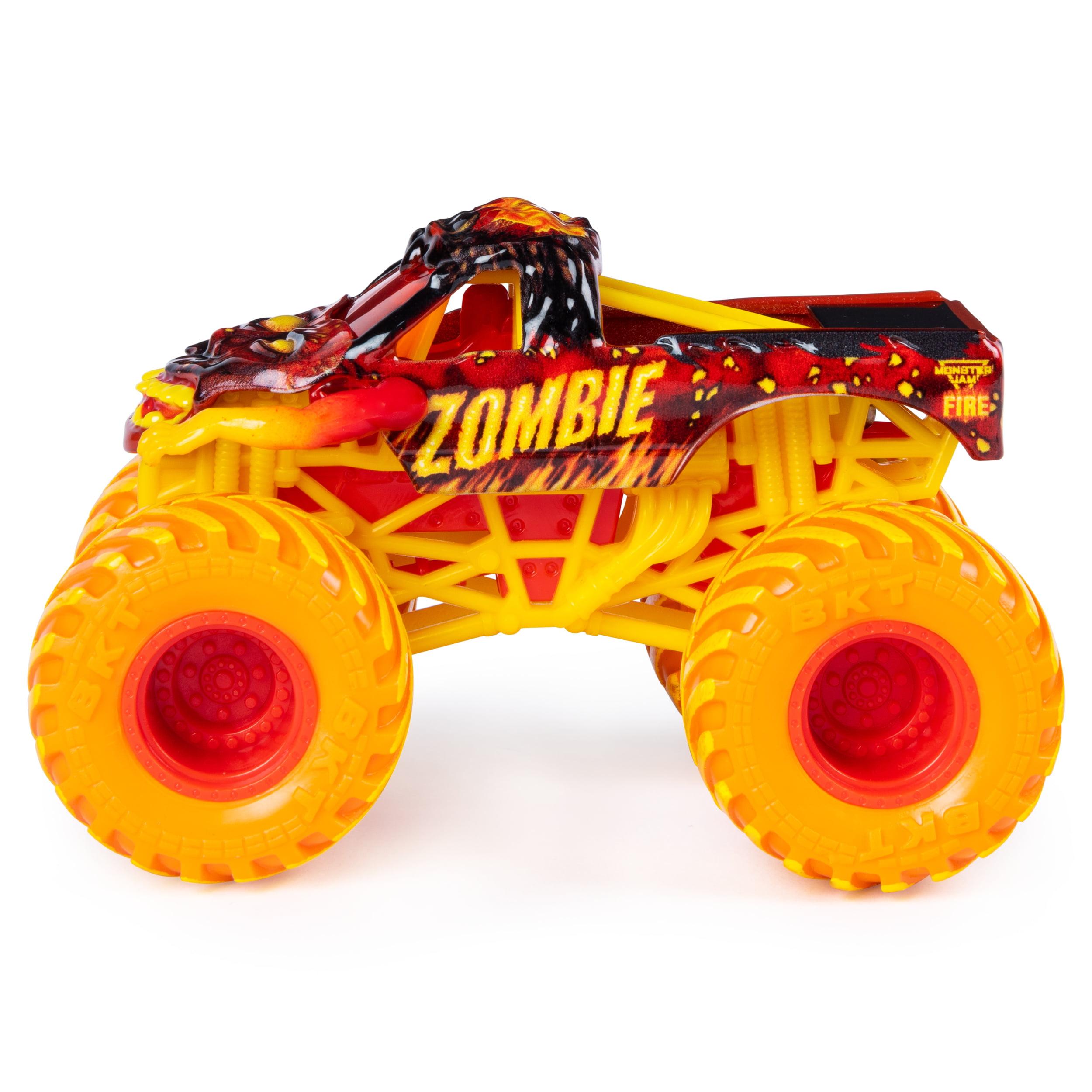 Monster Jam Fire Ice 2 Pack Zombie Vs El Toro Loco Monster Truck Die Cast Vehicles Walmart Exclusive 1 64 Scale Walmart Com Walmart Com