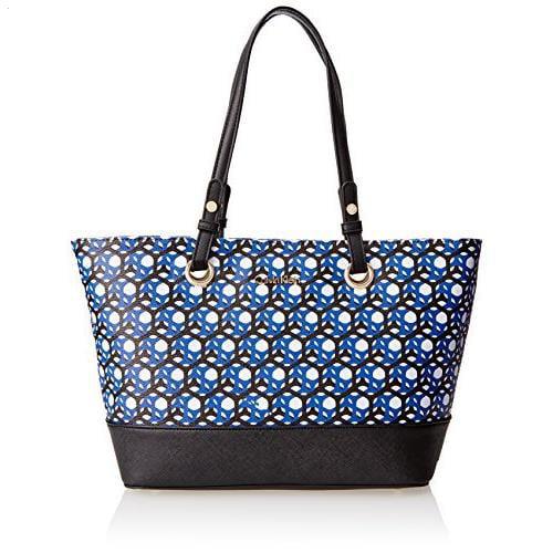 Calvin Klein Monogram Travel Tote Handbag, Black Honeycom...