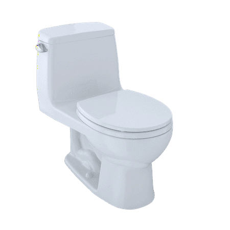 Toto Ultramax One Piece Round Bowl 16 Gpf Toilet Cotton White