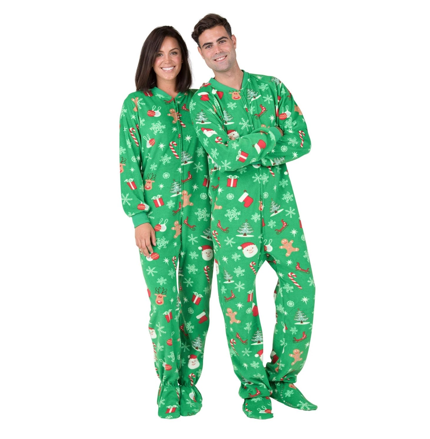 Family Matching Shamrock Green Hoodie Onesies for Boys Footed Pajamas Men Girls Women and Pets
