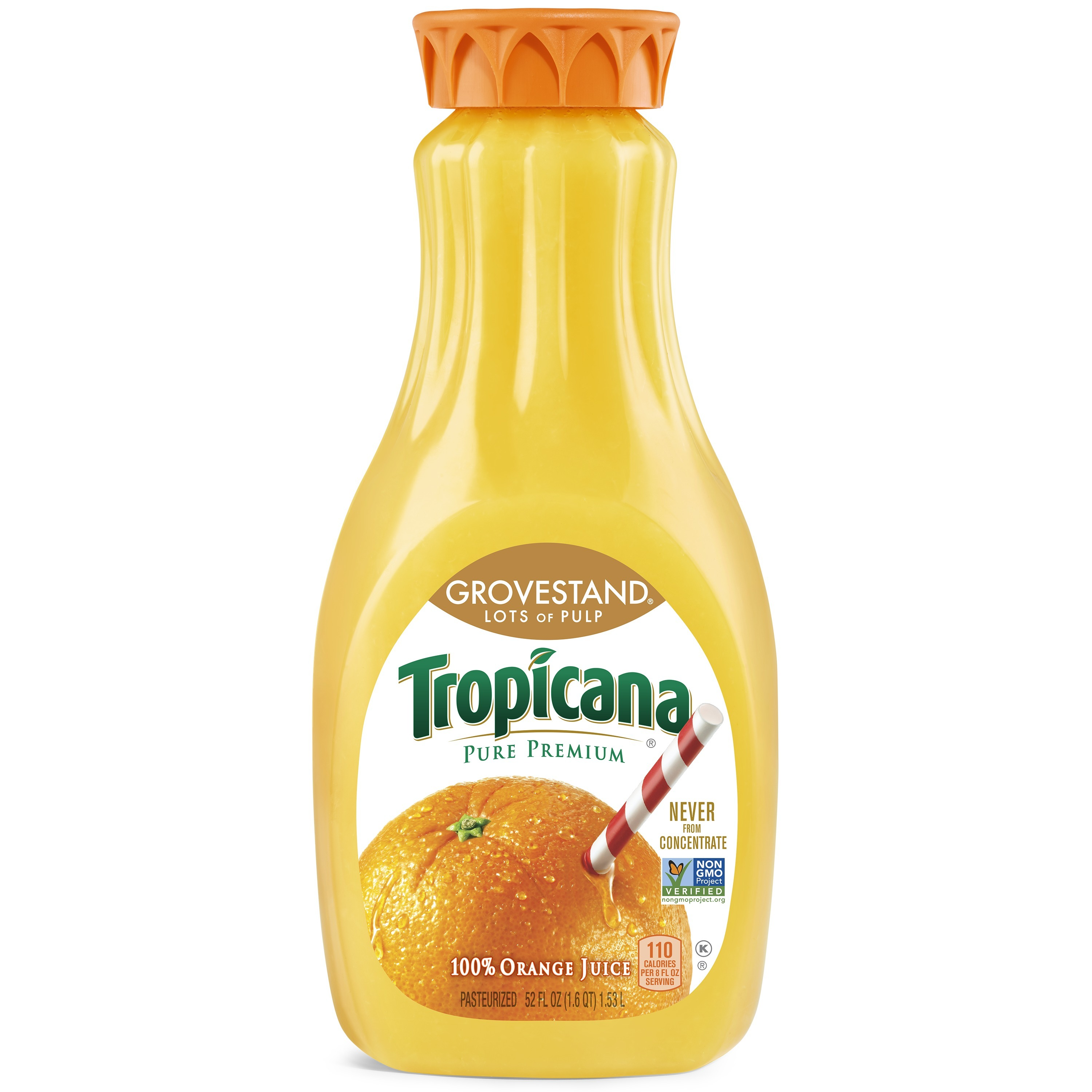 Tropicana Pure Premium Lots Of Pulp Orange Juice 52 oz