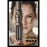 Star Wars The Force Awakens - Rey Portrait Poster Print